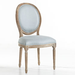 w8093-Mid French blue chair
