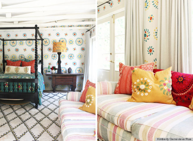 Todays idea mixing patterns in your home Decogirl
