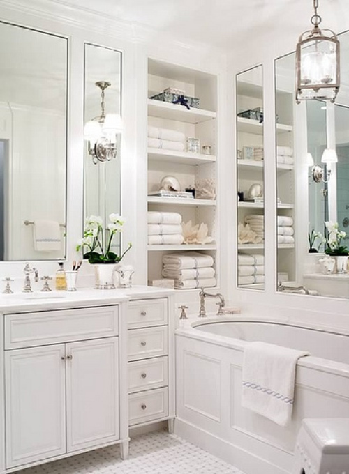 Today 39 s idea small bathroom storage cabinet decogirl montreal home decorating blog - Bathroom shelving ideas for small spaces photos ...