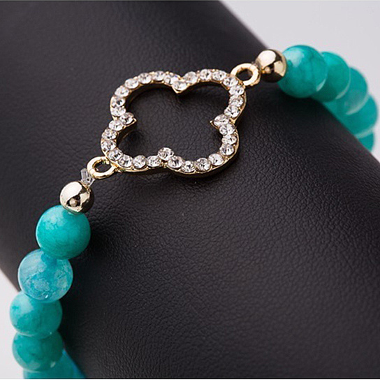blue-agate-bracelet-with-clover-charm-by-askew-co 14.00