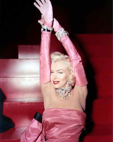 Marilyn-Monroes-Pink-Gown-photos